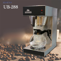 UB 288 American coffee machine commercial semi automatic drip tea making machine glass Hourglass American Coffee 12*2 cup 1900W