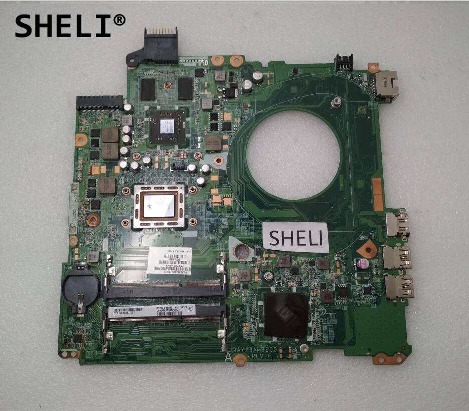 SHELI For HP 15 15-P Motherboard with A10-5745M 2.1Ghz cpu 766715-501 766715-001 sheli for hp 15 15 f motherboard with e1 2100 cpu 776783 001 776783 501