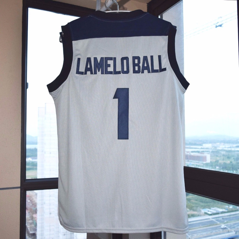 df4ea78586e9 Lamelo Ball  1 Chino Hill Basketball Stitched Jersey High School Gray-in  Basketball Jerseys from Sports   Entertainment on Aliexpress.com