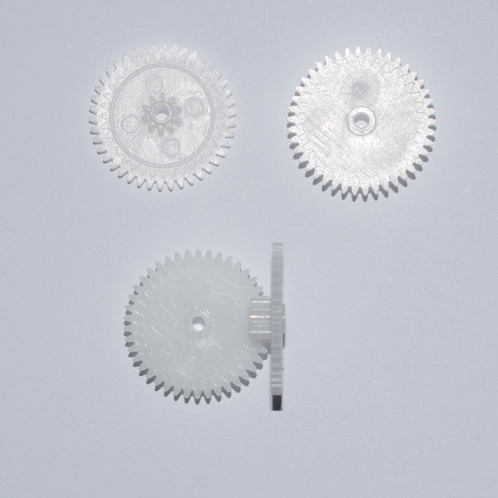 10/100/1000pcs 42/10teeth 22mm Diameter Hole 2mm Plastic Double Toys Gear/DIY Toy Accessories/technology Model Parts/rc/42102B