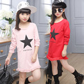 Kids girls spring / autumn T-shirt 2017 new baby girls' clothing fashion bottoming shirt printing burr 4/5/6/7/8/9/10/11/12/13