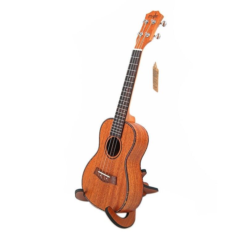 Kits de Concert ukulélé 23 pouces acajou Uku 4 cordes guitare avec sac accordeur Capo sangle pique pics pour débutant instrument Musical - 4