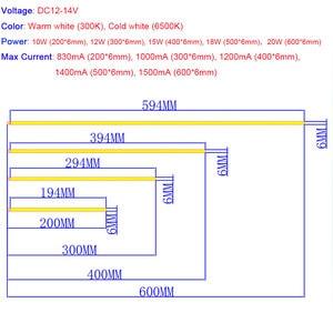 Image 3 - 10 sztuk 12V przyciemniane światło LED listwa oświetleniowa 20CM 30CM 40CM 50CM 60CM ciepły czysty biały światła typu LED Bar na wystawę lampa oświetleniowa
