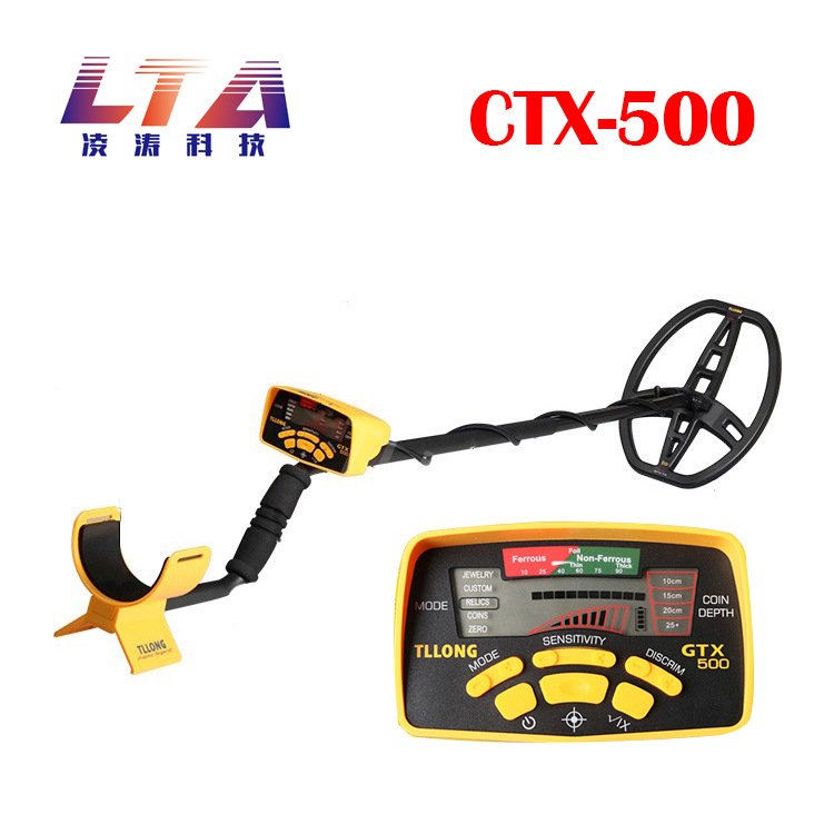 Underground Metal Detector GTX500 Exploring Gold Detector Locking and Identifying Metal Types identifying