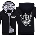 Mens 2015 Movie Star Wars 7 Sith Darth Vader Pattern Zip Up Winter Fleece Super Warm Hoodies