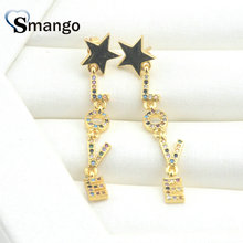 3Pairs,The Rainbow Series,The Star Shape LetterLOVE Women Fashion Earrings.Gold Colors, Can Mix,  Wholesale