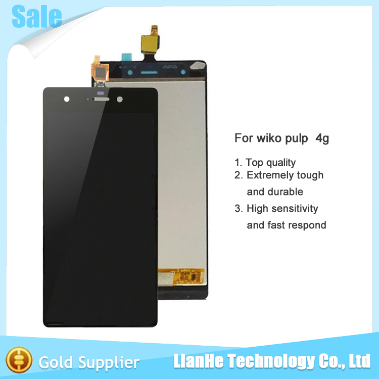 For Wiko Pulp 4G LCD Display Touch Screen digitizer Assembly For Wiko Pulp 4G Free Shipping