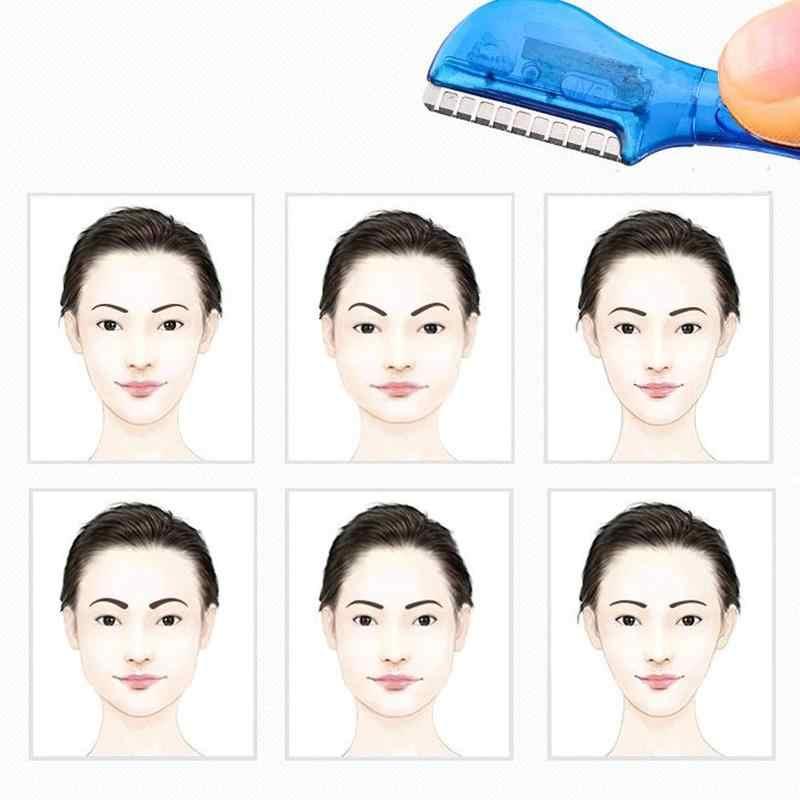 女性眉毛脱毛器整形ナイフ眉毛トリマー刃シェーバーナイフ眉成形ヘアリムーバーツール Epilateur Sourcil