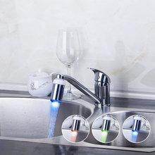 Кухня torneira Одной ручкой Палуба крепление свет Поворотный Chrome 8393C бассейна раковины водопроводной воды сосуд туалет смеситель кран