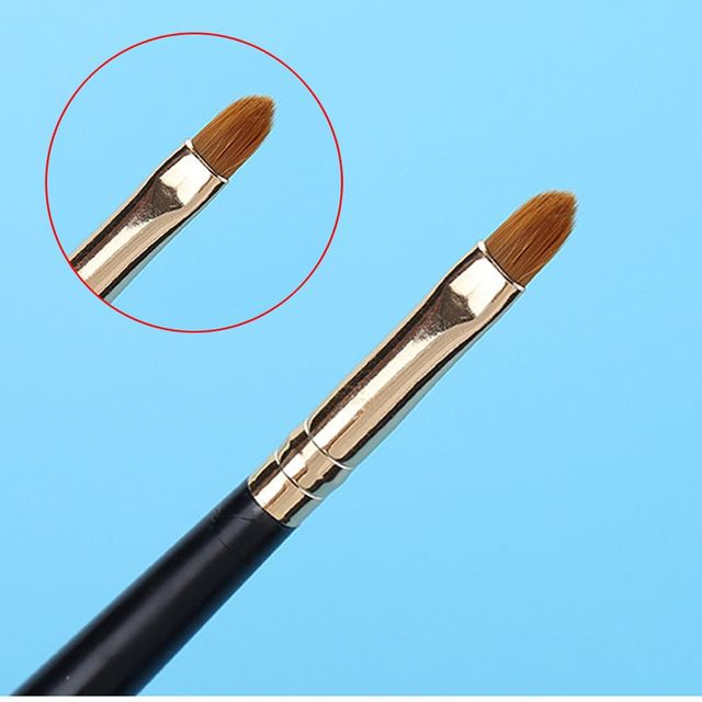 1PC New Fashion Professional Portable Silver Gold Lip Brushes Eyeshadow Brush Lipstick Lipliner Pen Pro Cosmetic Makeup Tool Makeup Brushes