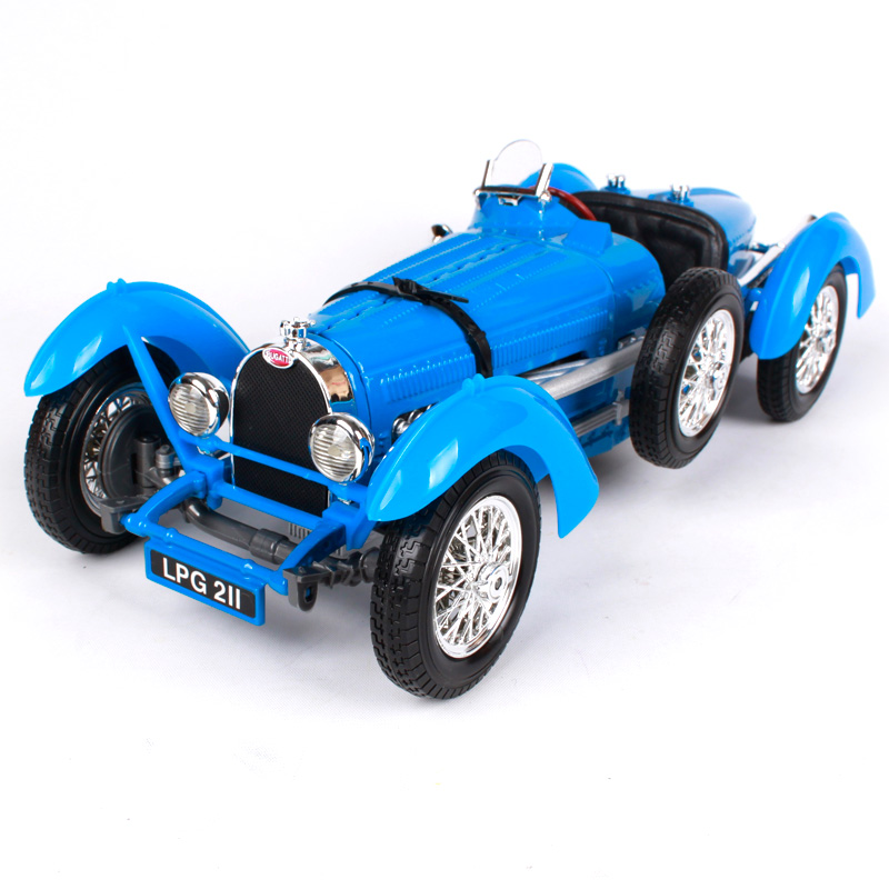 Maisto Bburago 1:18 1934 Bugatti Type 59 Car model Retro Classic Car Diecast Model Car Toy New In Box Free Shipping 12062 maisto bburago 1 18 1955 lancia aurelia b24 spider retro classic car diecast model car toy new in box free shipping 12048
