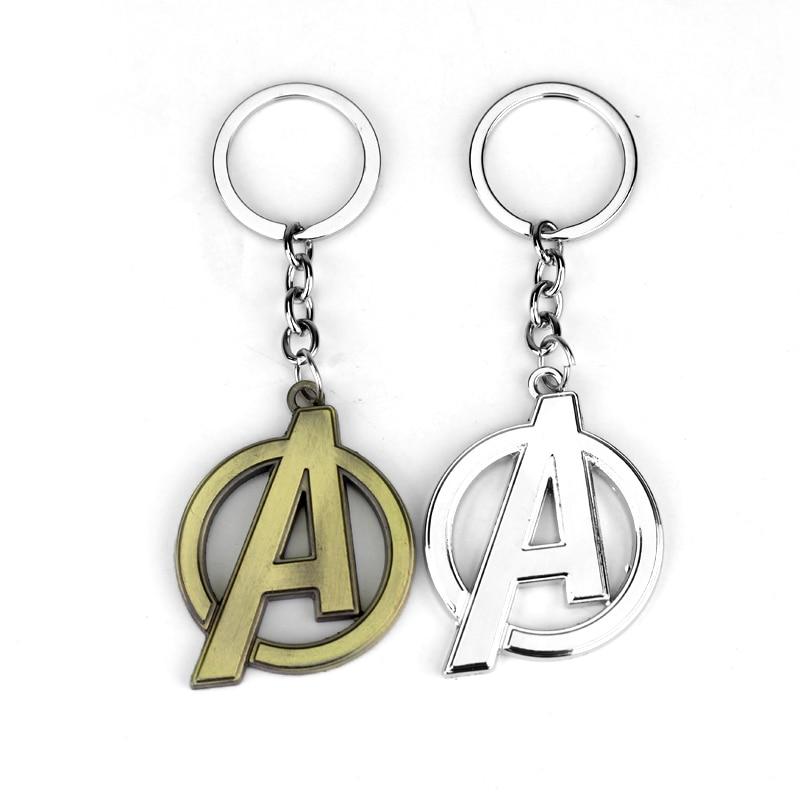 RJ Мода Мстители металлический брелок Американский капитан письмо логотип брелок для Для мужчин Для женщин