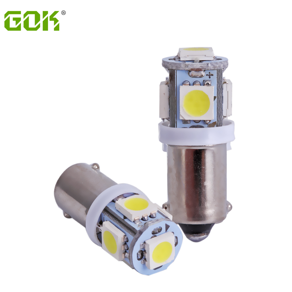 100PCS BA9S T4W H16W SMD LED 5smd 5led Car Indicator Light Interior Bulbs Wedge Lamp BA9S