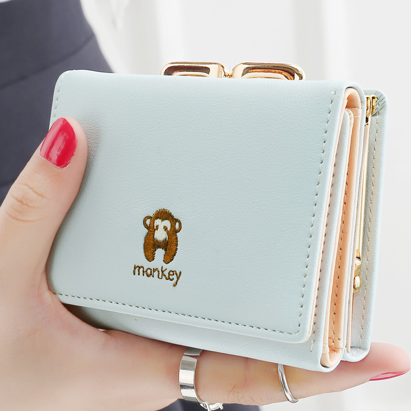 884b4185c9f8 Brand Women Wallet Small Purse Solid Leather Ladies WalletS Simple HASP 5  Color Availabie Card Holder Coin Womens Wallet Bags-in Wallets from Luggage    Bags ...