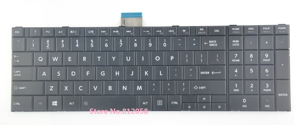 SSEA New US laptop Keyboard For <font><b>Toshiba</b></font> <font><b>Satellite</b></font> C50 <font><b>C55</b></font> C55D series image