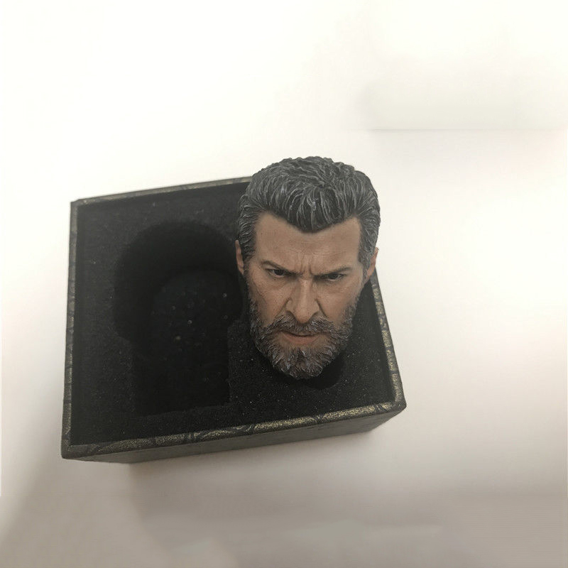 1/6 Scale Old Hugh Jackman Head Sculpt Wolverine Logan Model Figures for 12 Inches Male Bodies Toys Gifts Collections 1 6 scale wolverine 3 hugh logan head sculpt clone version with short hair for 12 inches male bodies dolls figures gifts toy