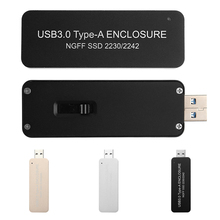 USB 3.0 to M.2 NGFF SSD Mobile hard disk box External Enclosure Storage Case Screw Drivers High Quality Gift