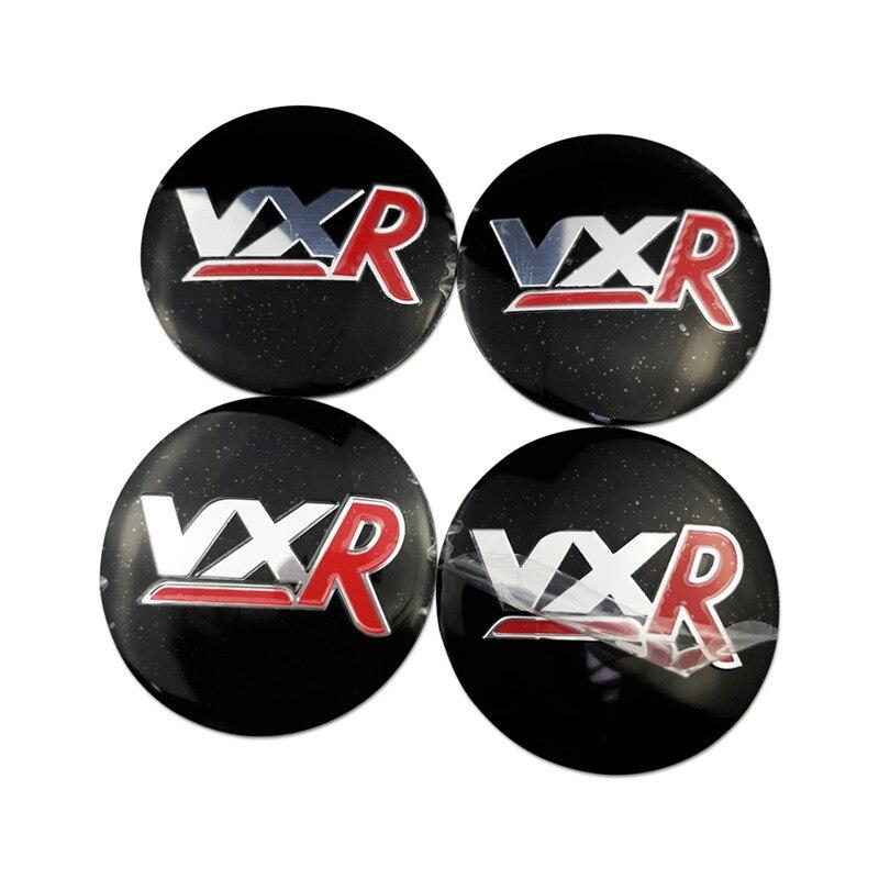 4 x OPEL VXR Azul 60mm Centro De Rueda Caps nuevo Emblema Centro De La Tapa base Negro