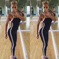 Macacão Roupas de Treino de Fitness Calças Leggings Despojado das mulheres