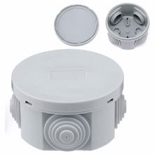 1pc Round Waterproof Weatherproof Junction Box Plastic Electric Enclosure Case For General Installation Project Use