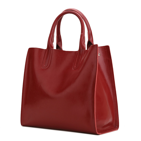 2016 Fashion Casual Women Handbag Genuine Leather Tote Bag Female Shoulder Bag Red Large Capacity Hand Bag Mujer Leisure Totes 2017 esufeir brand genuine leather women handbag fashion shoulder bag solid cowhide composite bag large capacity casual tote bag