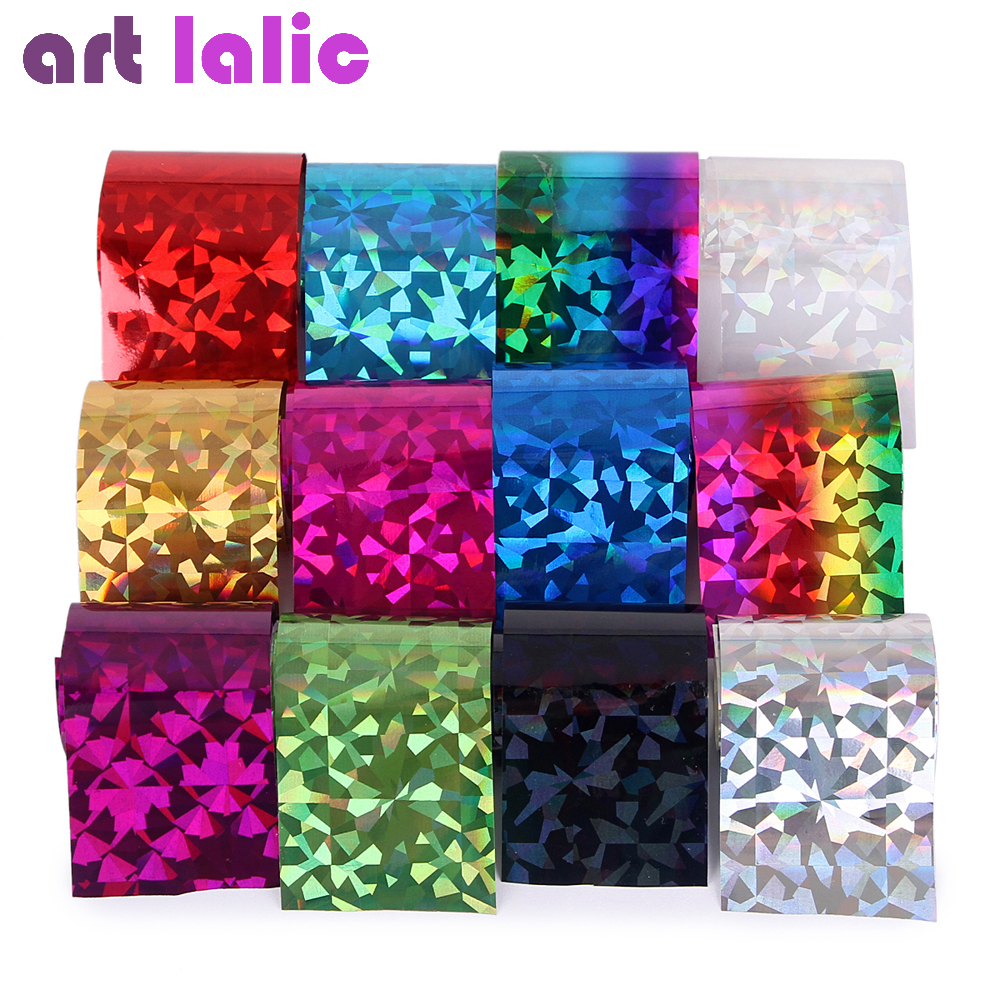 Artlalic 1 Set 12 Colors Diamond Starry Sky Nail Sticker Foils Multicolor DIY Nail Decal Manicure Nail Art Transfer Stickers 12 rolls mix color nail art sticker transfer foils decal dazzle colorful nails decoations set