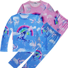Kids Boys Pajamas Set Childrens Pyjamas Clothing Sets Girls Angel Unicorn Moana Maui Pyjama Carnaval Enfant Sleepwea