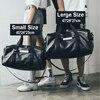 NEWBOLER Gym Bag Leather Women Fitness Shoe Compartment Men Duffle Shoulder Bags Waterproof Travel Training Large Sport Handbag  4