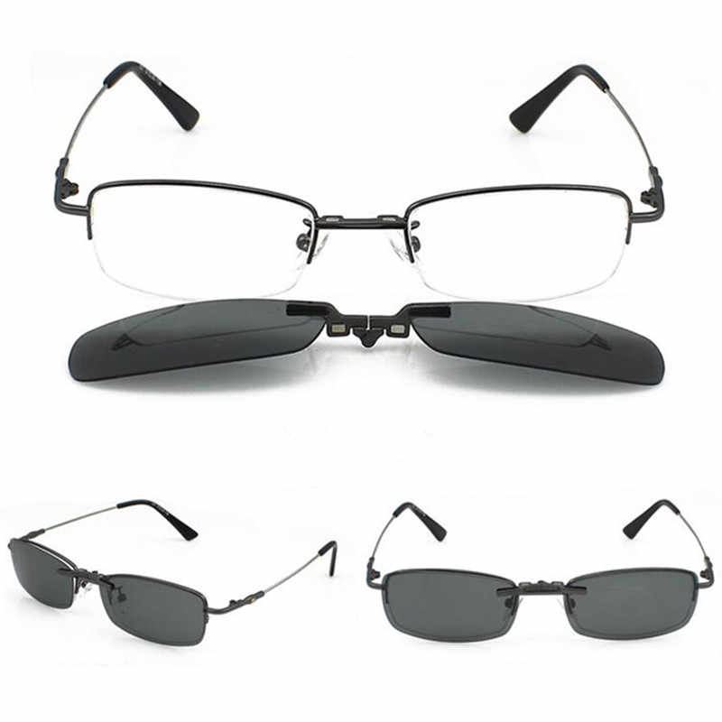 4f7b07bac7 clips on Polarized Magnet Polarized Sunglasses Eyeglasses Frames Flexible  Half Rimless Driving Rx able