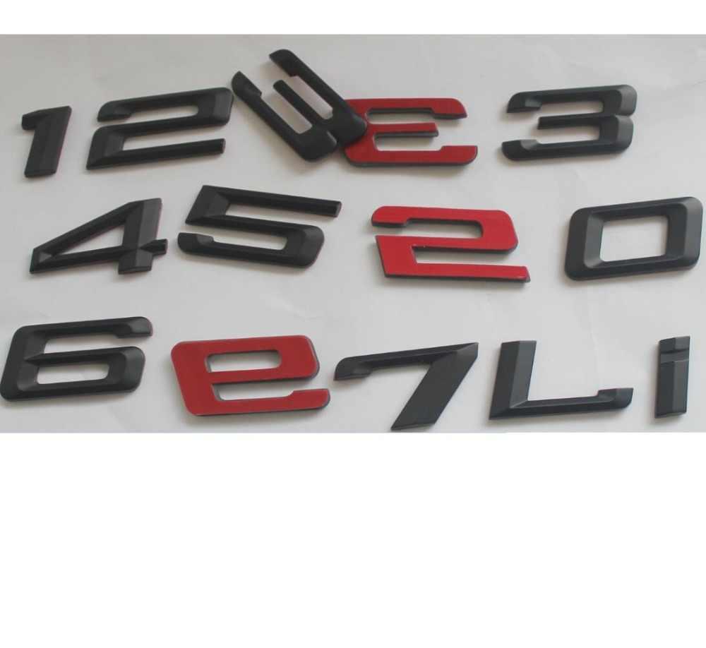 Matte Black ABS Number Letters Word Car Trunk Badge Emblem Letter Decal Sticker for BMW 7 Series 760Li
