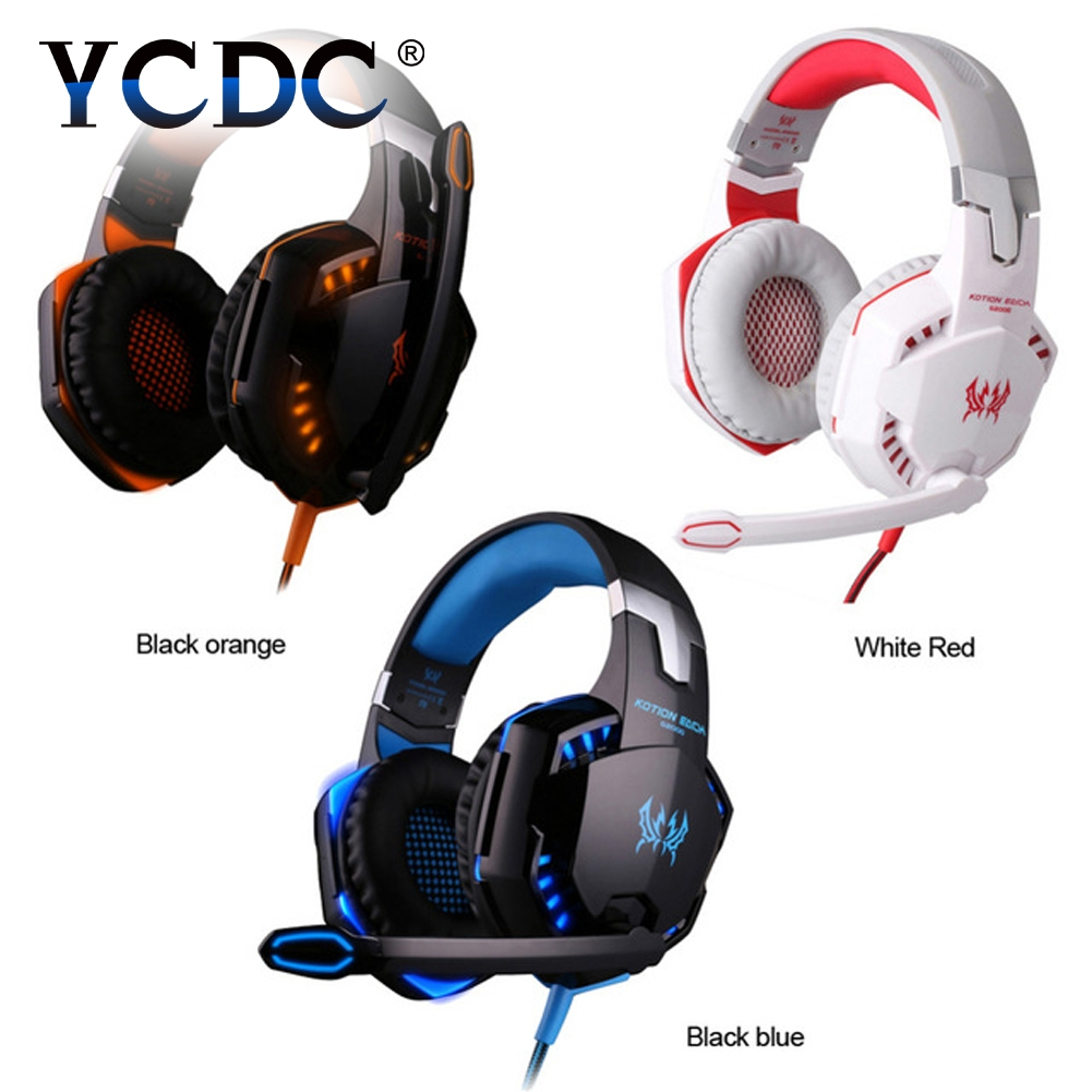 YCDC Gaming Headset 3.5MM Desktop USB Wired Headphone with Mic Volume Control Best casque for Gamer For PS4 Desktop high quality flag custom finish left handed es electric guitars china hollow body