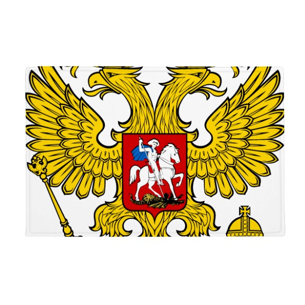 Double-headed Eagle Russia Symbol Anti-slip Floor Mat Carpet Bathroom Living Room Kitchen Door 16x30Gift