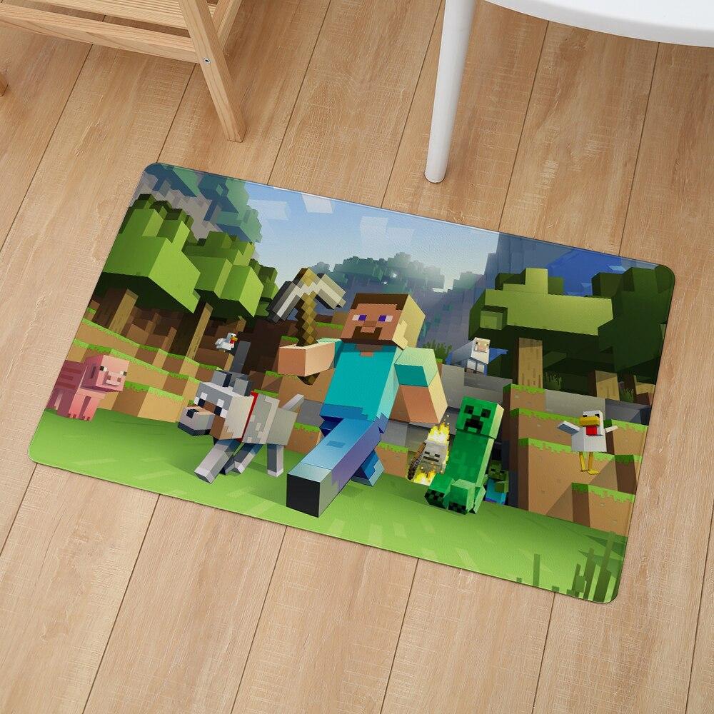 Minecraft Geometric Print Floor Door Mat 46*76cm Kitchen