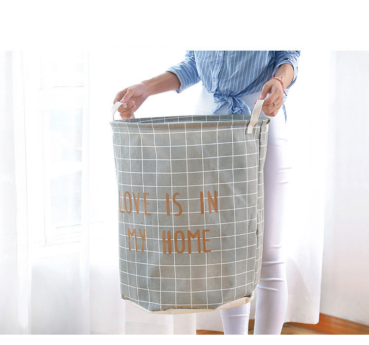Domestic dirty clothes basket cartoon cloth art dirty clothes basket large waterproof folding laundry basket bathroom Oxford clo 3