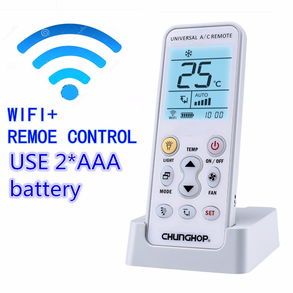 WIFI Universal  A/C controller Air Conditioner air conditioning remote control CHUNGHOP K-390EW APP PHONE control universal 1 5 lcd air conditioner a c remote control controller white 2 x aaa