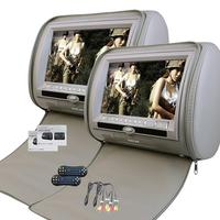 2X9 Inch Car Headrest Dvd With Digital Panel And With Zipper 32bit Game IR USB SD