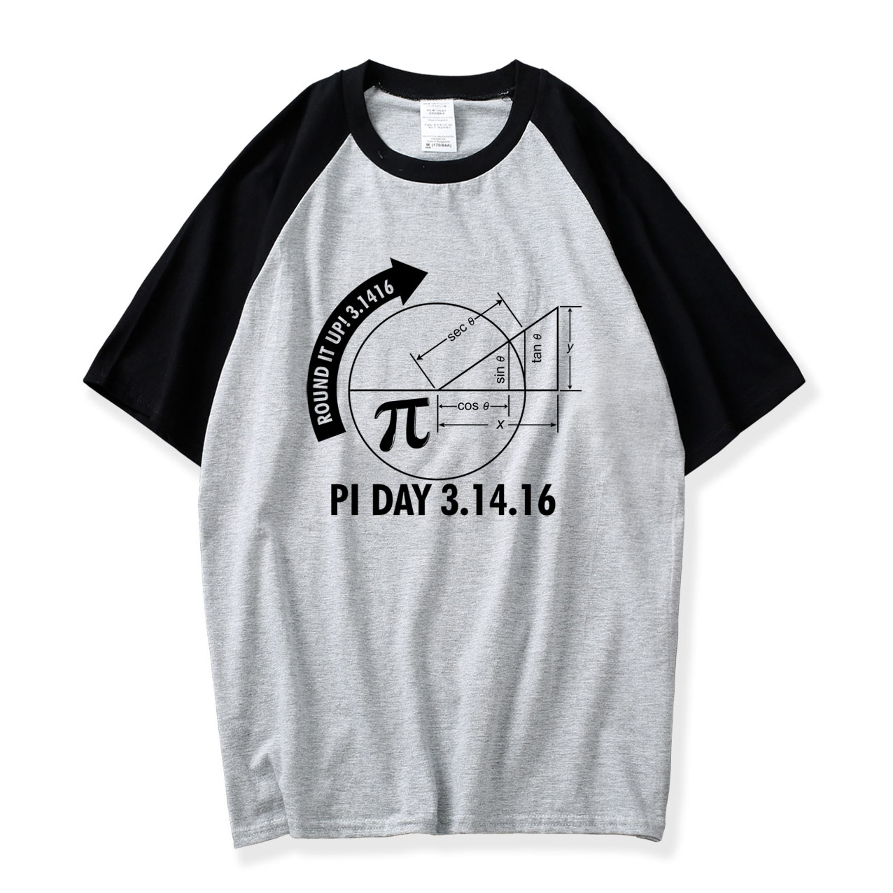 Raglan Sleeve T Shirt Men Pi Day 2016 3.1416 Round It Up Math Graph Stem T-Shirt 2018 New Summer 100% Cotton O Neck Mens Tshirts
