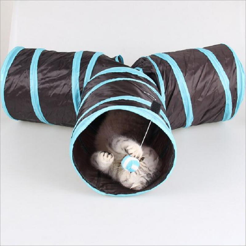 Hot!!! Super Funny Cat Toys Tunnel Cat/Totoro Crinkly Kitten Tunnel With Ball Pet Toys Cat Toy Long Tunnel Cat/Rabbit Crazy Toys