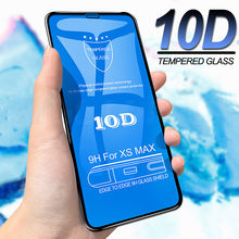 VGCJOK 10D Protective Glass For iPhone 6 7 X XS Max XR Tempered Screen Protector Glass On The For iPhone 7 6 S 8 Plus Film Case(China)
