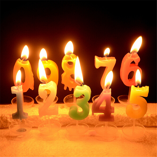 Hot Sale Creative Crystal Digital Candle Romantic Birthday Candles Party Activities With A Tray