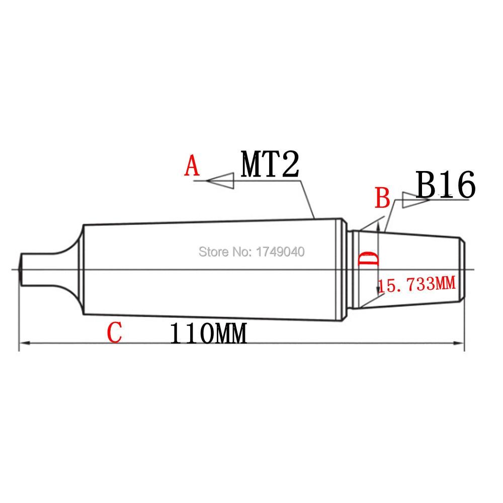 MT2 до B16 оправка для сверлильного патрона адаптер плоский хвостовик конус Морзе 2MT B16 Арбор Тяговая тяга токарный станок фрезерная арматура для буровых прессов