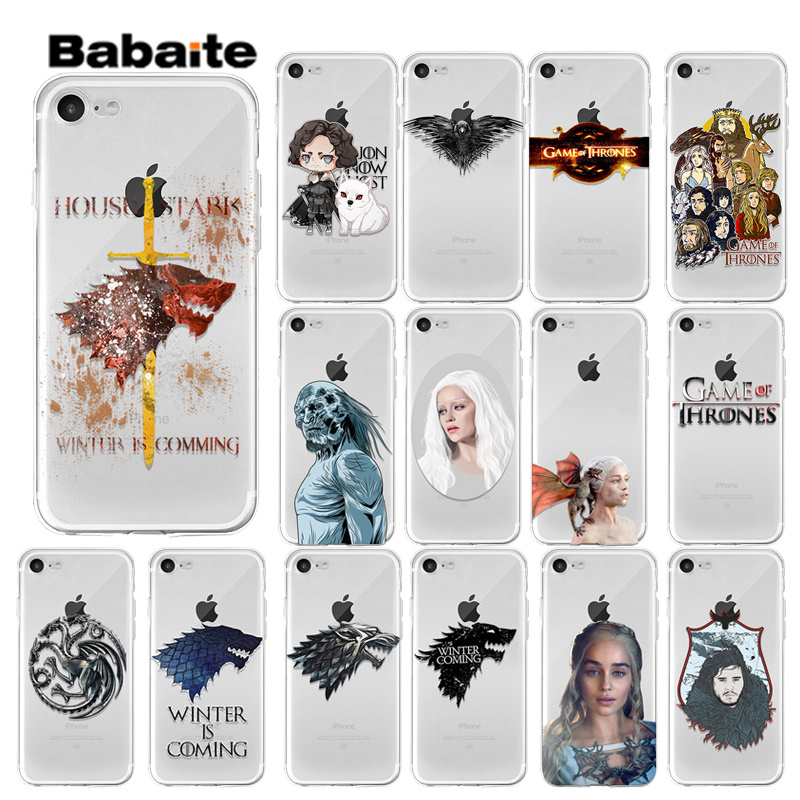 Babaite Game of Thrones1 Customer High Quality Phone Case for iPhone 8 7 6 6S Plus 5 5S SE XR X XS MAX Coque Shell