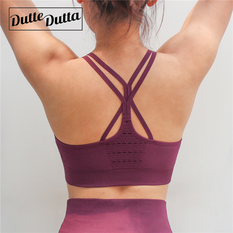 Hollow Out Sports Bra For Women Criss Cross Yoga Bra Fitness Crop Tops High Impact Brassie Push Up Yoga Bra Sport Underwear remax metal headphones base driven high performance stereo earphone with microphone and in line control rm 305m
