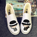 Hand painted Canvas Shoes   Zapatos Mujer  Casual Shoes Graffiti  Flats Shoes Fashion Shallow Mouth White 2017