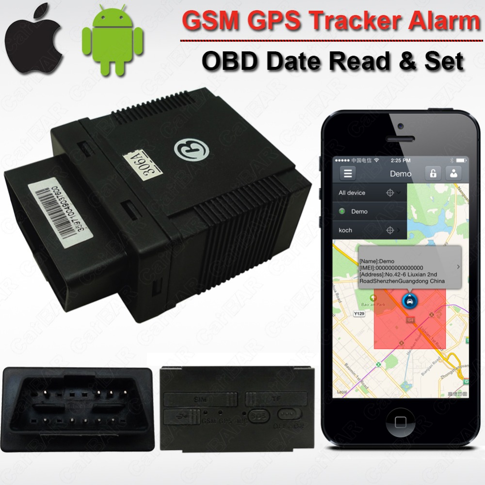 Car Vehicle OBD GPS GSM Alarm Tracker GPS306A  Realtime History Records Read Original Car info date  ACC Overspeed Alarm number