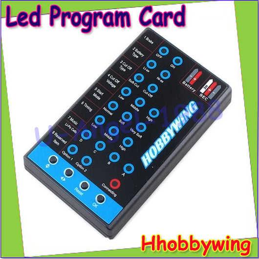 Щеточный электронный регулятор скорости HOBBYWING программа карты светодиодный черный Скайуокер 20A 30A 40A 60A 80A FLYFUN Pentium вертолет ESC