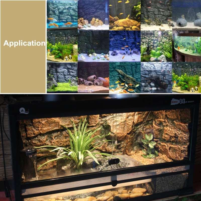 3D Foam Rock Reptile Aquarium Fish Tank Background Backdrop Board Pattern Lizard Gecko Durable Terrarium Decor