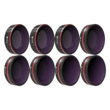Freewell todo o dia 8 filtros de pacote para câmera de ação dji osmo