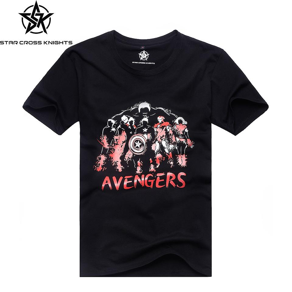 Marvel Men T-shirt Short Sleeve O-neck Summer New Marvel
