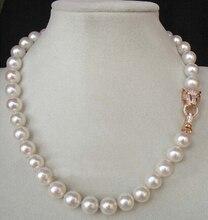"""Largo 18 """"10-11mm Genuino blanco perla akoya ra (5.18) precio de Fábrica Al Por Mayor Regalo de Las Mujeres palabra Joyería"""